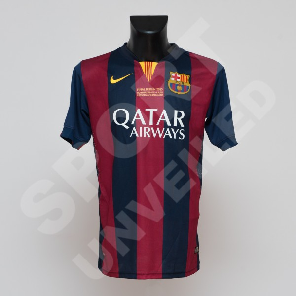 low cost a022d 3a41c Lionel Messi's Barcelona jersey